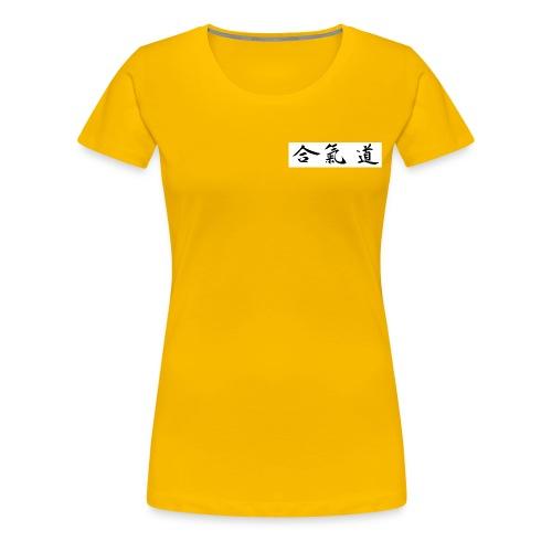 aikido kanji - Premium-T-shirt dam