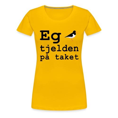 Tjeld - Premium T-skjorte for kvinner
