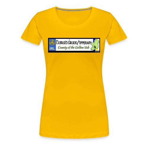 TIPPERARY, IRELAND: licence plate tag style decal - Women's Premium T-Shirt