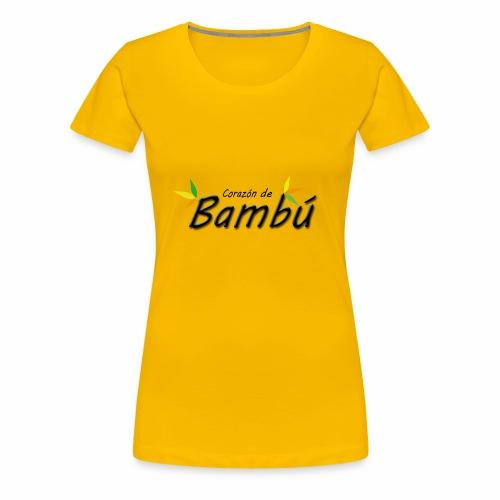 Corazón de bambú - Camiseta premium mujer