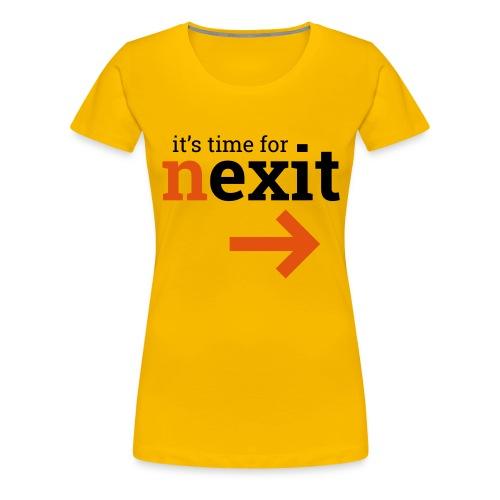 its time for nexit logo in zwart oranje - Vrouwen Premium T-shirt