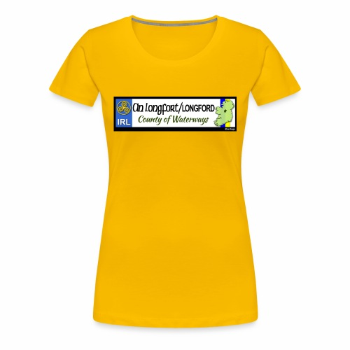 LONGFORD, IRELAND: licence plate tag style decal - Women's Premium T-Shirt