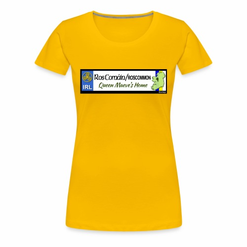 ROSCOMMON, IRELAND: licence plate tag style decal - Women's Premium T-Shirt