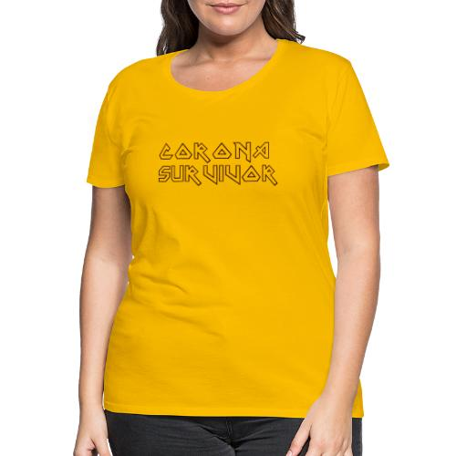 CORONA SURVIVOR COVID-19 SHIRT - Vrouwen Premium T-shirt
