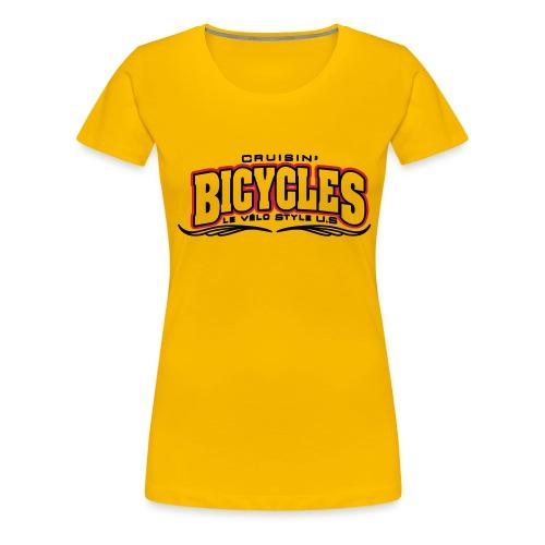 logo cruisin bicycles chris3 - T-shirt Premium Femme