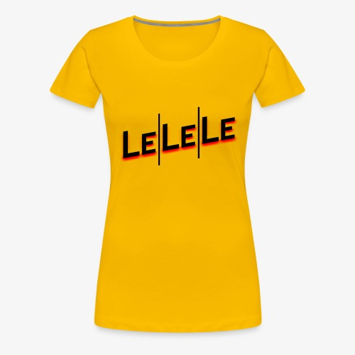 LeLeLe black/red vert - Frauen Premium T-Shirt