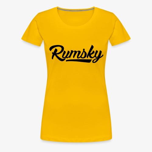 Rumsky-logo - Vrouwen Premium T-shirt