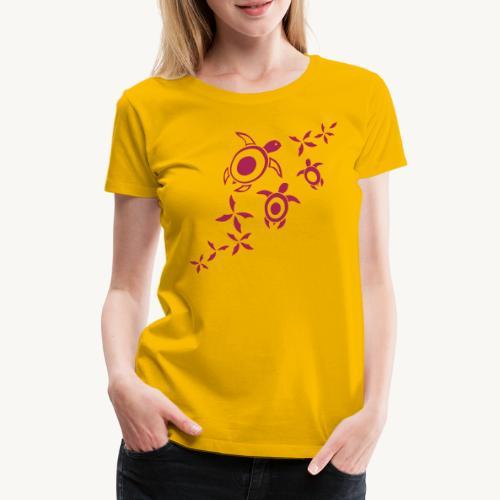 blumige Wasserschildis - Frauen Premium T-Shirt