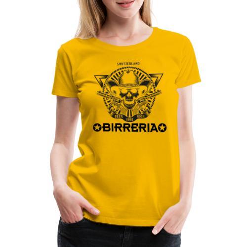 Sheriff Skull with Revolver - Frauen Premium T-Shirt