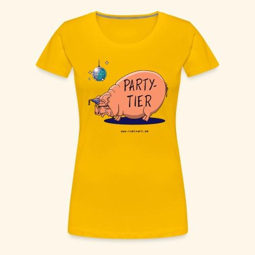 Partytier Schwein Fete Feier Party Sau - Frauen Premium T-Shirt