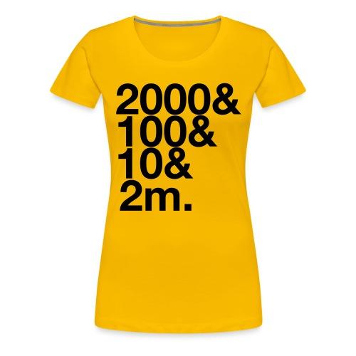 Henley 2112m - Women's Premium T-Shirt