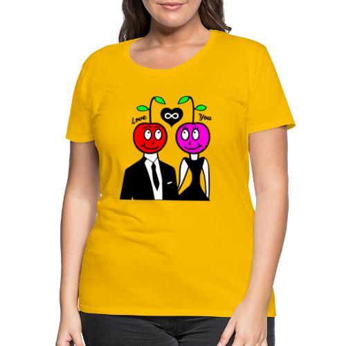 Happy Kirsche - Frauen Premium T-Shirt