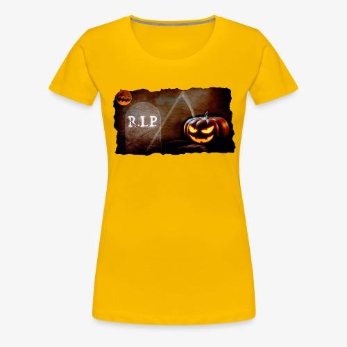 Halloween schauriger Friedhof - Frauen Premium T-Shirt