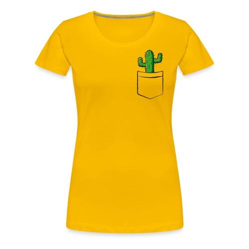 Kaktus in der Tasche – lustige Geschenkidee - Frauen Premium T-Shirt