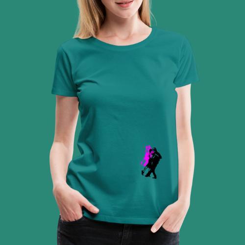 Tangotänzer pink und schwarz - Frauen Premium T-Shirt