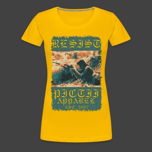 PICTRESIST7 - COL1 - Women's Premium T-Shirt