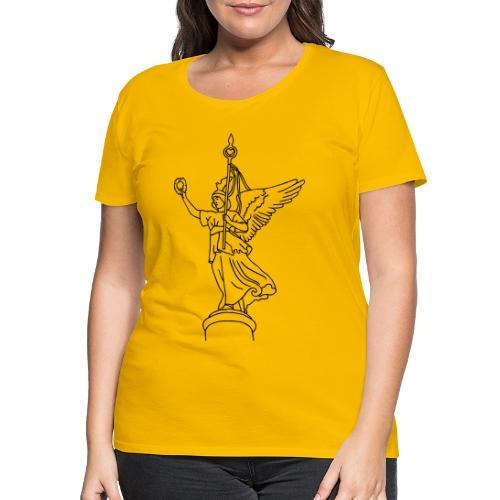 La statue dorée de Victoria - T-shirt Premium Femme