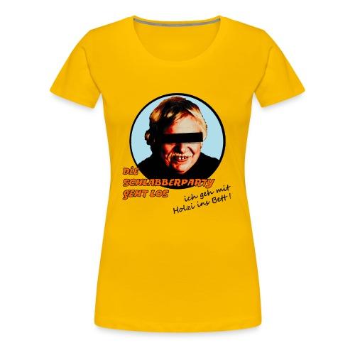schlabberparty bitmap - Frauen Premium T-Shirt