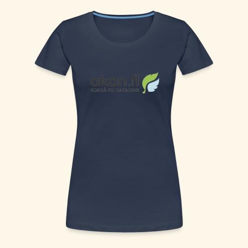 Akan Black - Premium-T-shirt dam