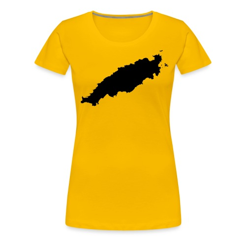 Tobago Silhouette - Women's Premium T-Shirt