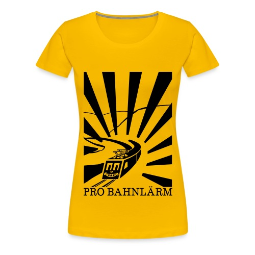 Pro Bahnlärm Rheintal - Frauen Premium T-Shirt
