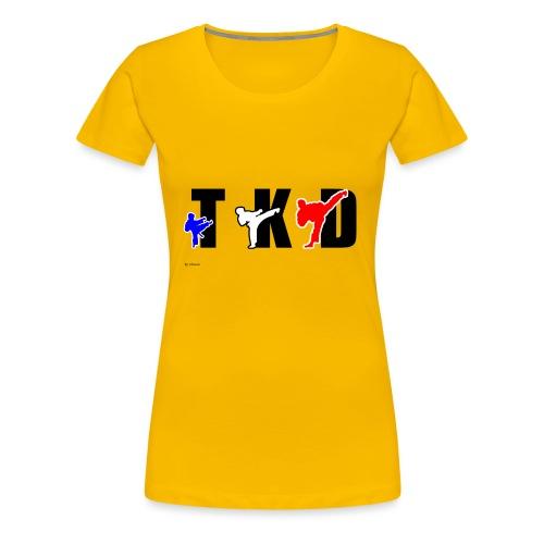 Design Taekwondo - T-shirt Premium Femme