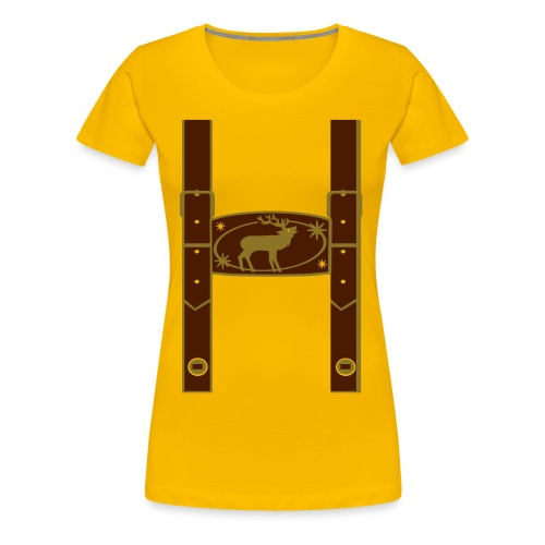 Lederhose - Frauen Premium T-Shirt