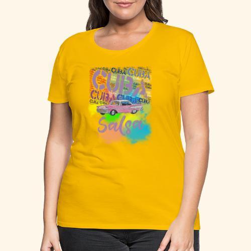 Salsa Havana Cuba vintage T-shirt for dancers - Women's Premium T-Shirt