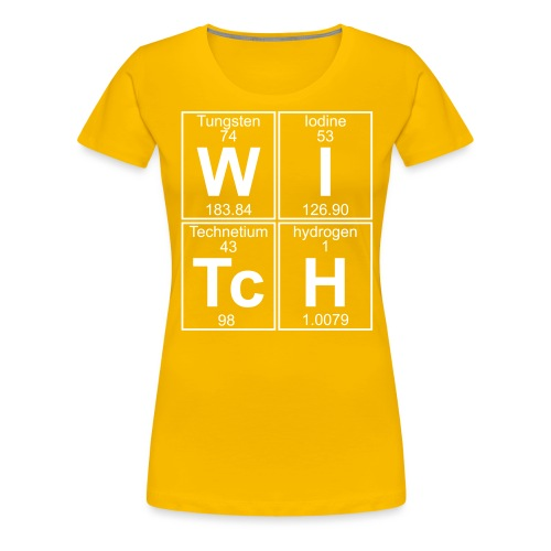 W-I-Tc-H (witch) - Women's Premium T-Shirt
