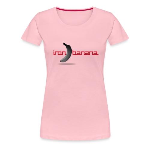 IRON BANANA LOGO - Women's Premium T-Shirt