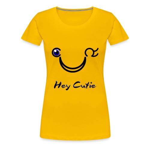 Hey Cutie Blue Eye Wink - Women's Premium T-Shirt