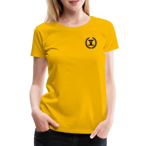 V Schwarz - Frauen Premium T-Shirt