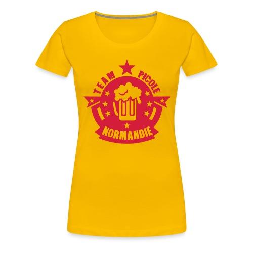 normandie team picole biere logo - T-shirt Premium Femme