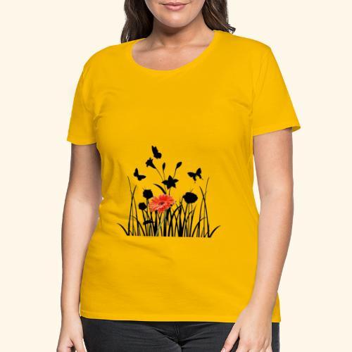 Flower Pover - Frauen Premium T-Shirt