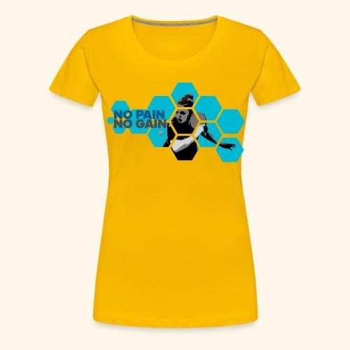 No PAIN, No GAIN. Play Ping pong ideal gift - Frauen Premium T-Shirt
