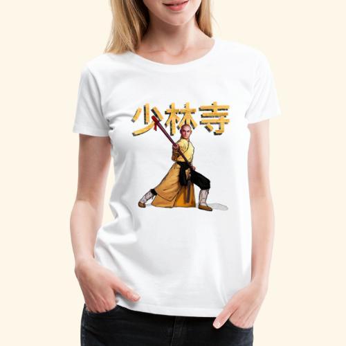 Shaolin Warrior Monk - Vrouwen Premium T-shirt