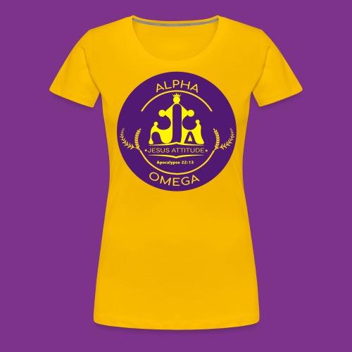 Jesus Alpha & Omega - T-shirt Premium Femme
