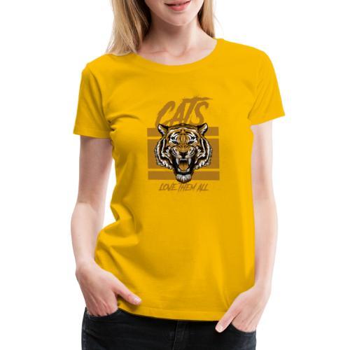Cats, love them all - Vrouwen Premium T-shirt