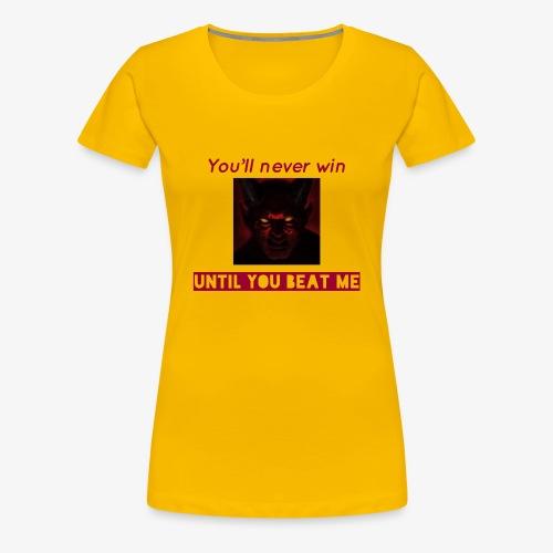 The unbeaten devil - Women's Premium T-Shirt
