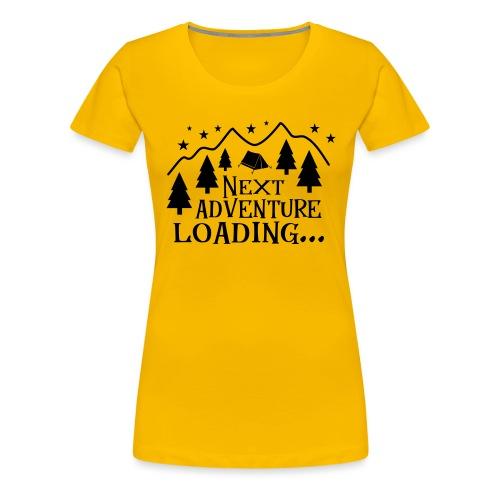 Outdoor Camping Wandern Natur Berg Geschenk Spruch - Frauen Premium T-Shirt