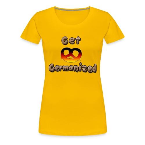 Get Germanized Pretzel - Women's Premium T-Shirt