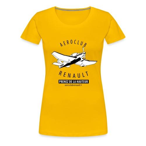 aeroclub clair - T-shirt Premium Femme
