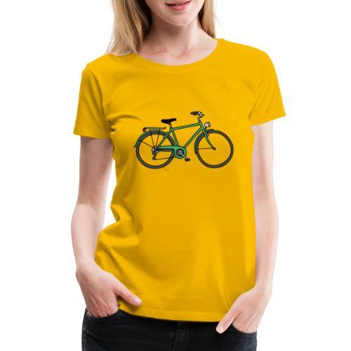Grünes Fahrrad Bike - Frauen Premium T-Shirt
