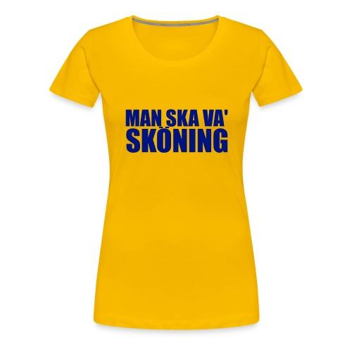 skoningblue2 - Premium-T-shirt dam