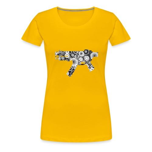 floral gun - Premium-T-shirt dam