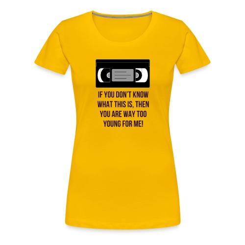Retro VHS - Women's Premium T-Shirt