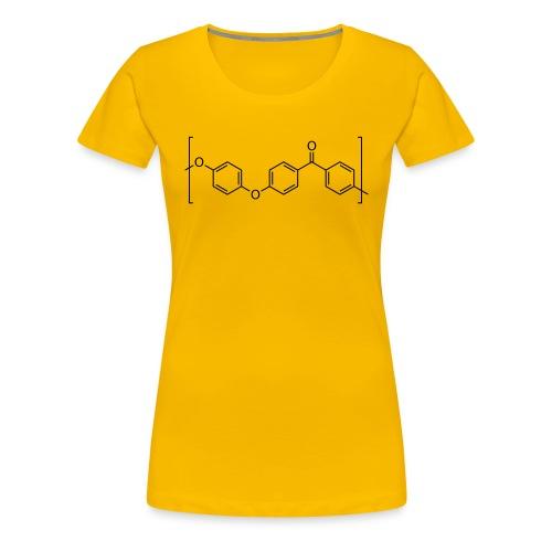 Polyetheretherketone (PEEK) molecule. - Women's Premium T-Shirt