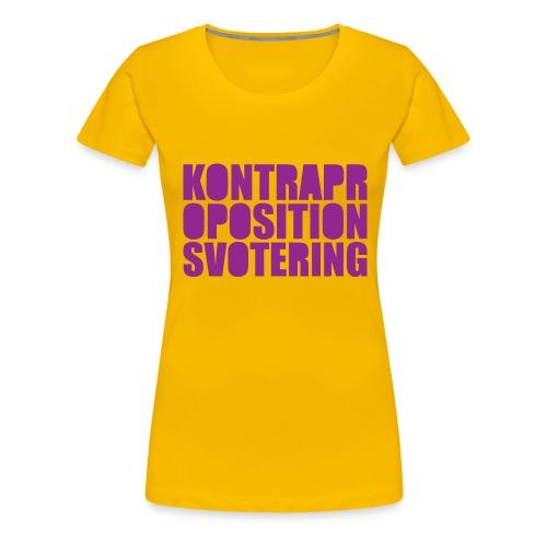 Kontrapropositionsvotering LILA - Premium-T-shirt dam