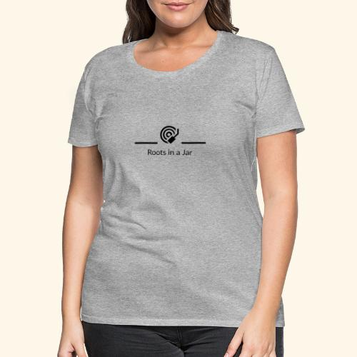 Roots in a jar logo - Premium-T-shirt dam