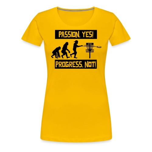 Disc golf - Passion, progress - Black - Naisten premium t-paita